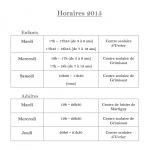 horaire 2015